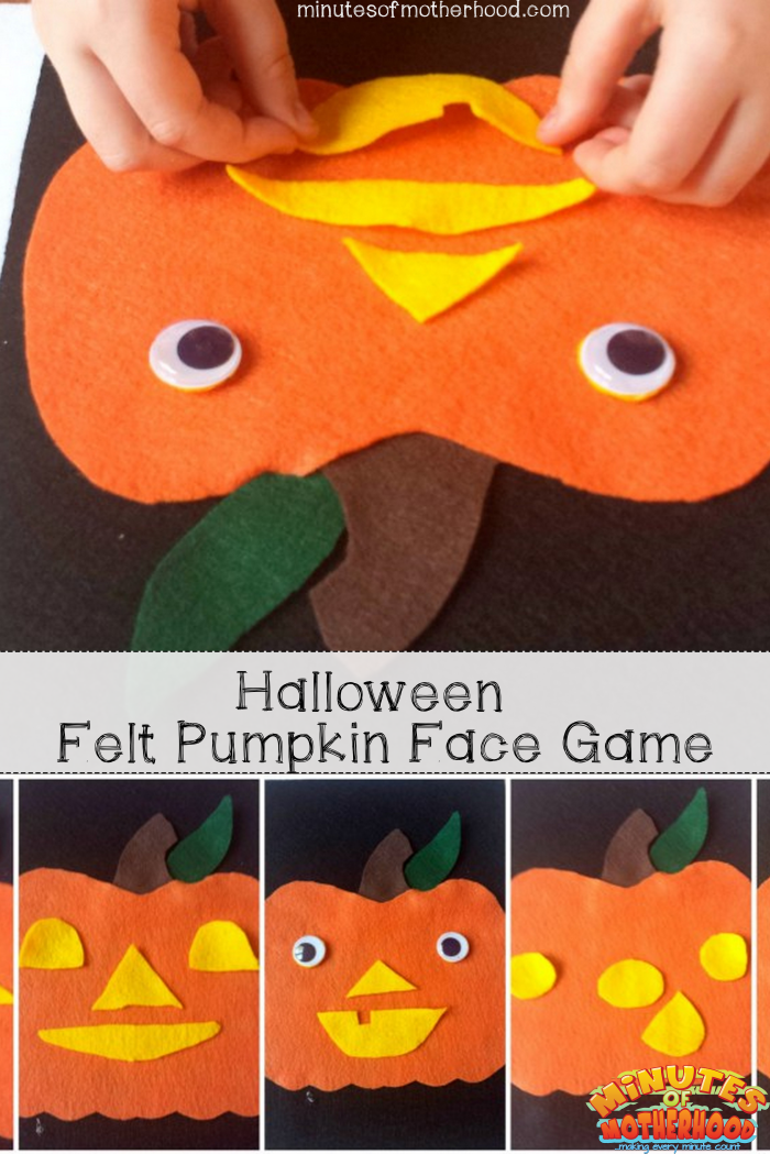 Halloween Pumpkin Felt Face Game