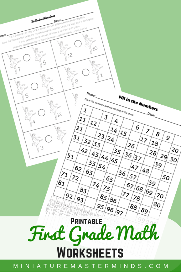Two First Grade Math Worksheets – The Nutcracker Theme – Miniature  Masterminds