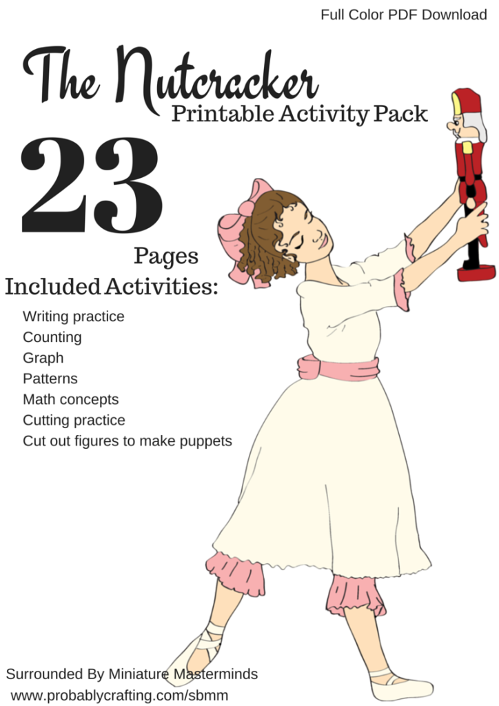This is an image of Dashing Nutcracker Worksheets Printable