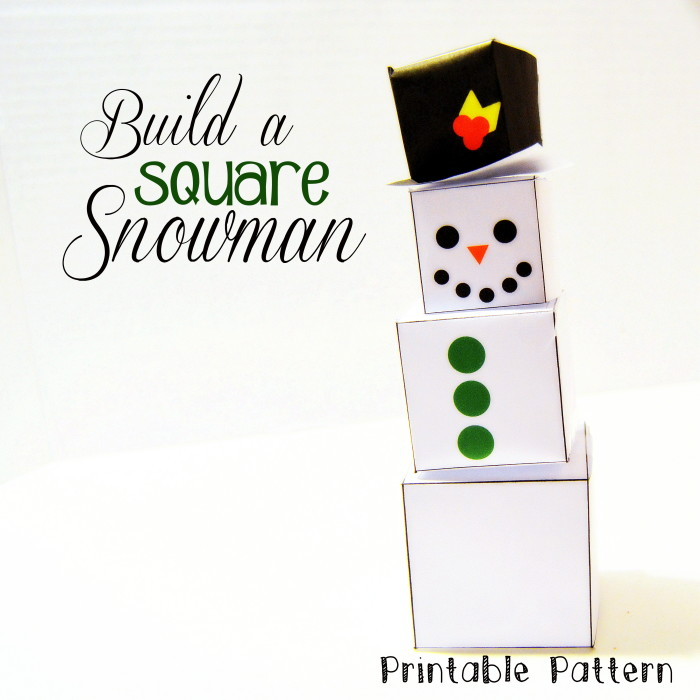Build a Square Snowman Printable