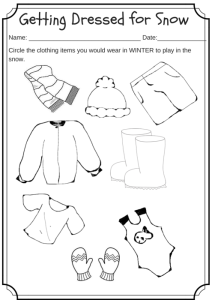 Winter Weather Wear Preschool Worksheet What Would You Wear On A Cold Day Miniature Masterminds