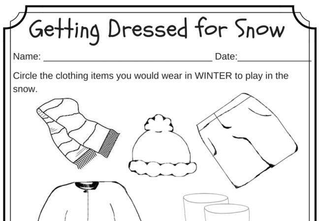 Common Worksheets Winter Worksheet Preschool and Kindergarten – Snowman Worksheets Kindergarten