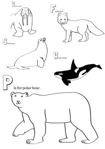 Arctic Animals Printable Coloring Pages - Miniature ...