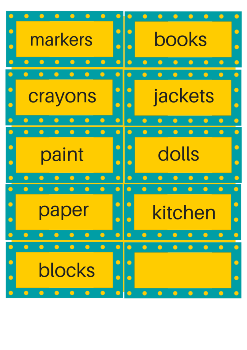 Early Reading Room Labels Print