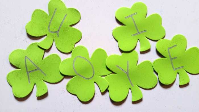 DIY Shamrock Alphabet Fridge Magnets