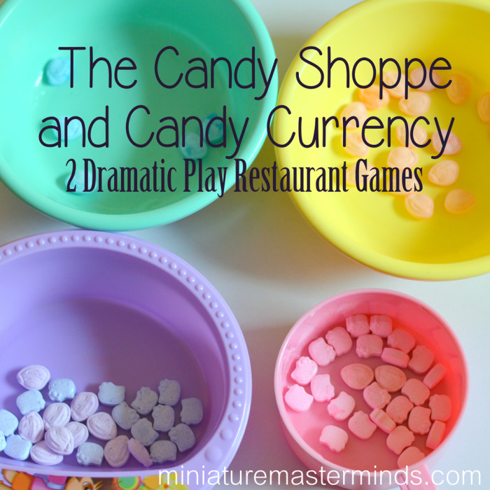 The Candy Shoppe and Candy Currency - 2 Dramatic Play Restaurant Games