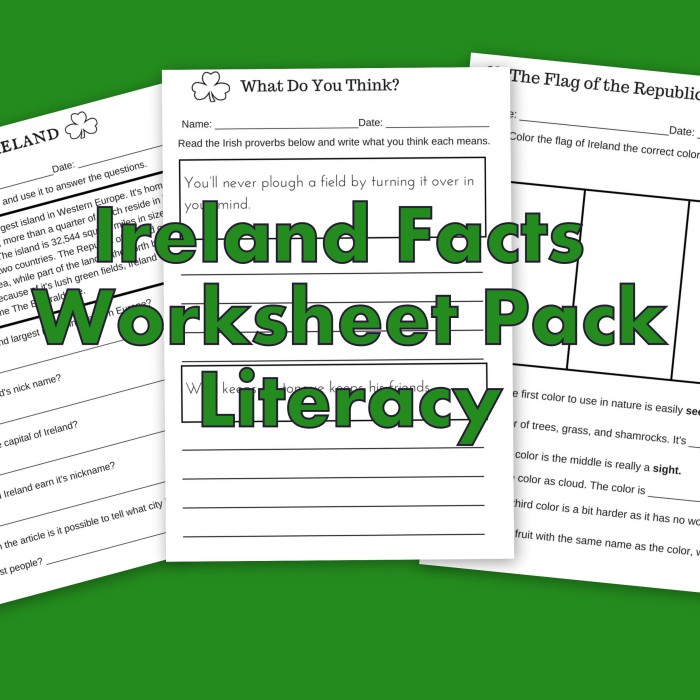 Ireland Facts Literacy Worksheets Let S Learn About Ireland