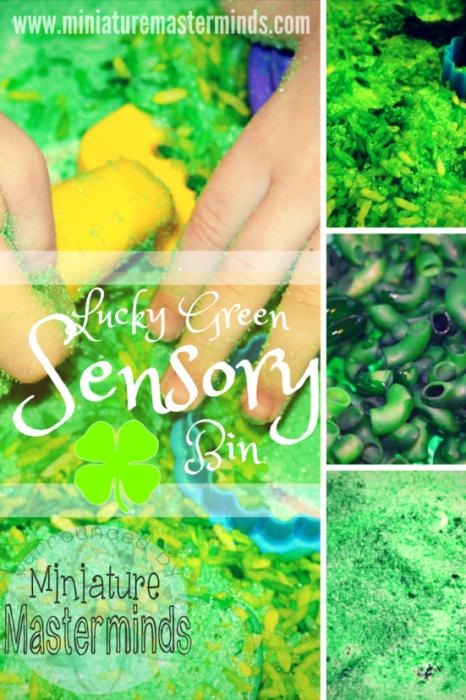 Lucky Green Sensory Bin