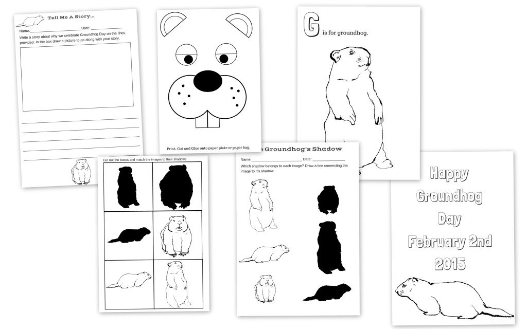 Happy Groundhog Day! Groundhog Day Free Printable Activity Pack