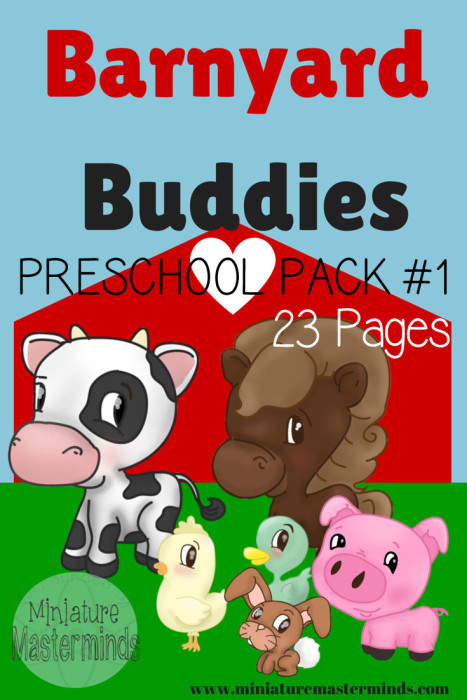 Barnyard Friends Preschool Printable Pack
