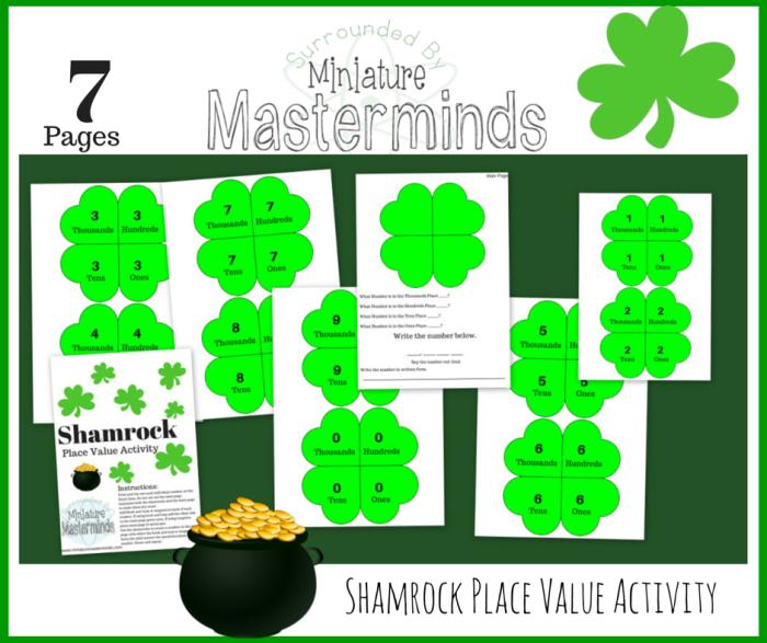 Shamrock Place Value Activity