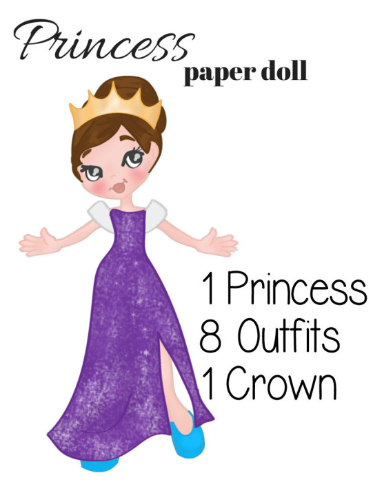 Printable Princess Paper Doll Full Color Version Miniature Masterminds