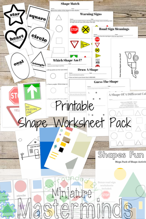 Shape Worksheet Pack