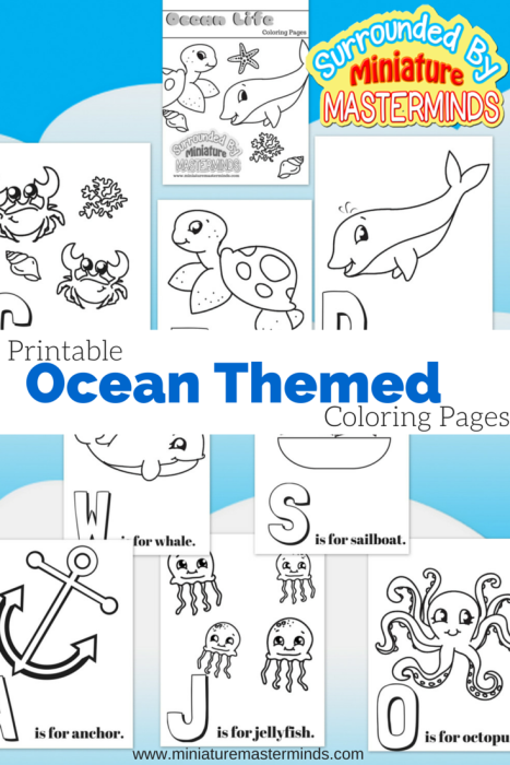 Printable Ocean Themed Coloring Pages