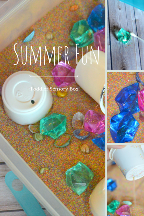 Summer Fun toddler Sensory Box With Colorful Sand