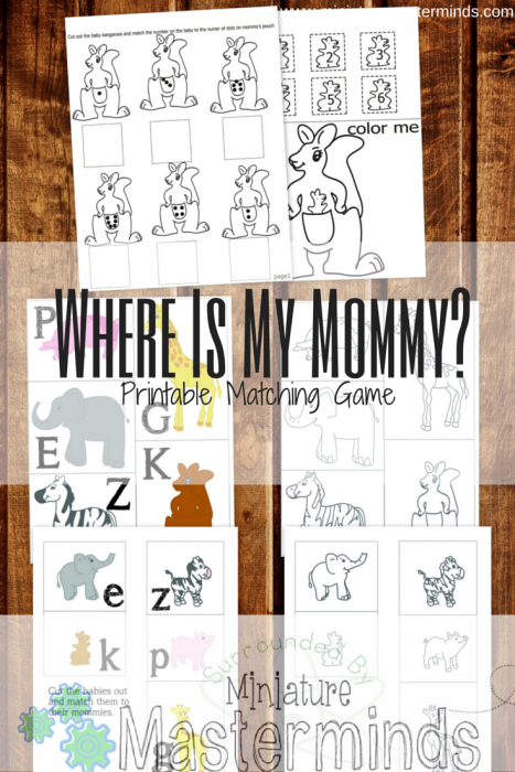 Where Is My Mommy? Printable Matching Game