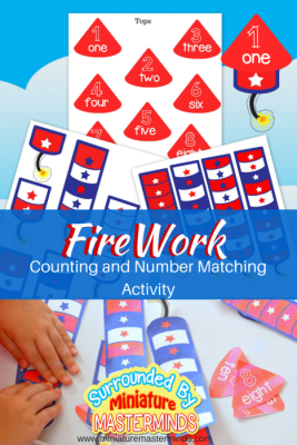 Free Printable Firework Counting and Number Matching Activity