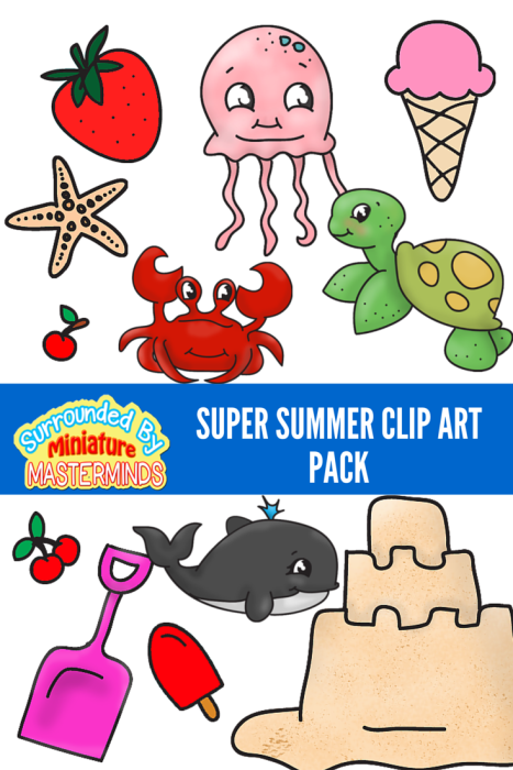 Super Summer Clip Art Pack