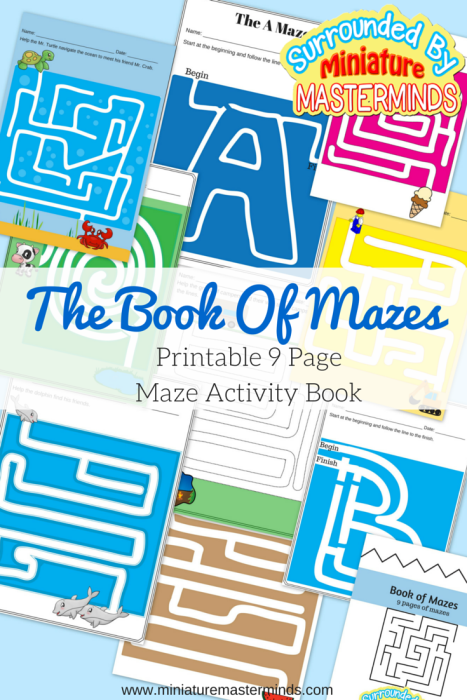 The Book Of Mazes. 9 Maze Activities.
