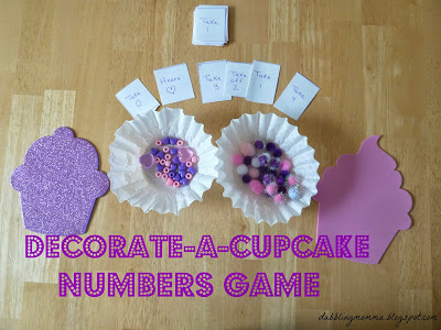 cupcake game set up with cards pm2