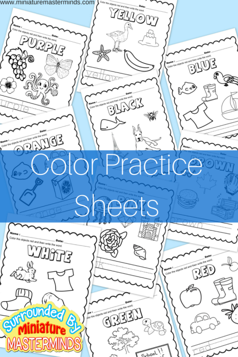 Free Printable Color worksheets