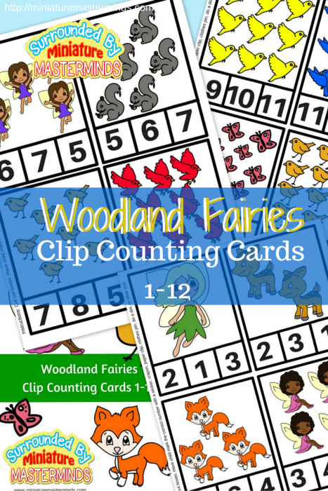 Woodland Fairy Clip Counting Cards 1-12