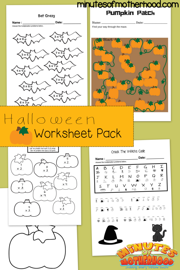 Free Printable Halloween Multiplication Practice, Pumpkin Maze, and ...