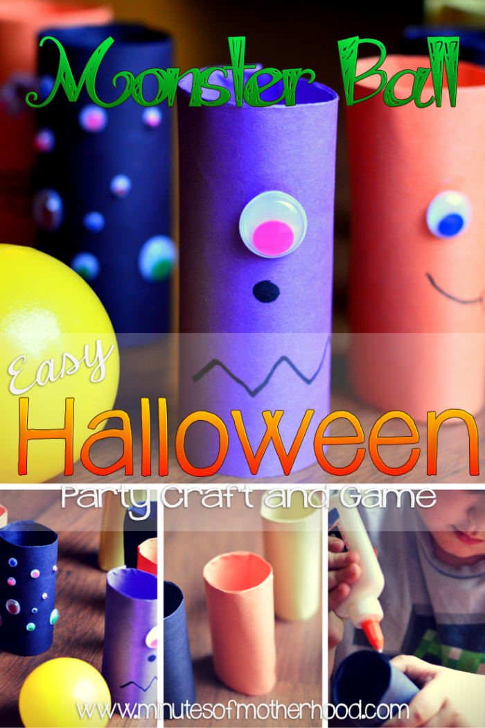 Monster Ball Bowling Easy Halloween Party Craft and Game