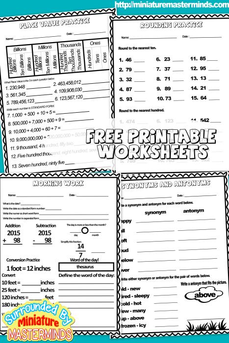 freeprintableworksheets982015