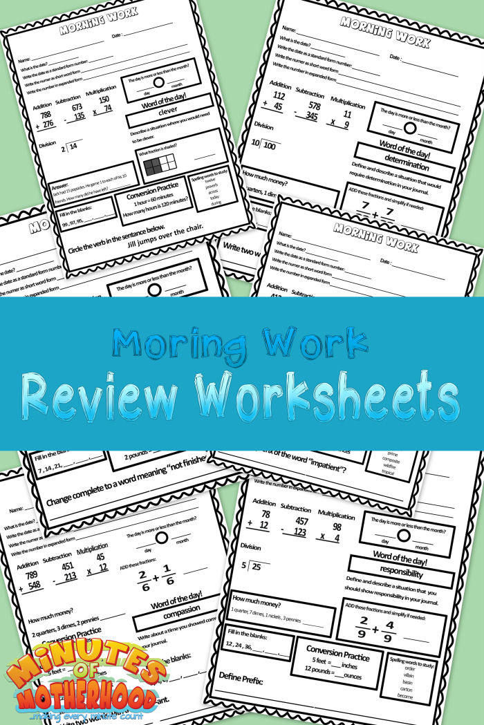 morningworksheets