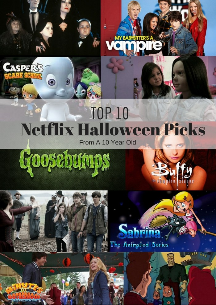Top Ten Netflix Halloween Picks From a Ten Year Old