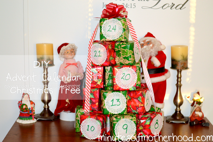 DIY Advent Calendar Tree 1