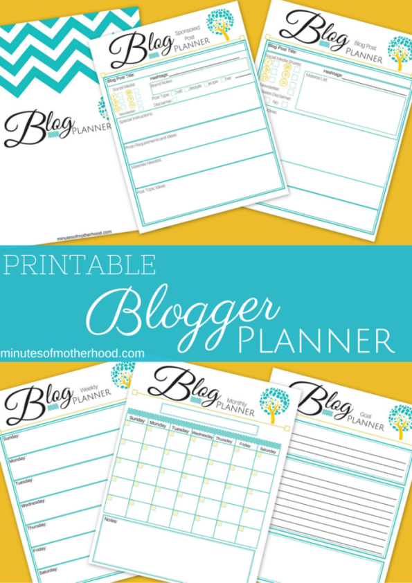 Free Printable Blogger Planning Calender