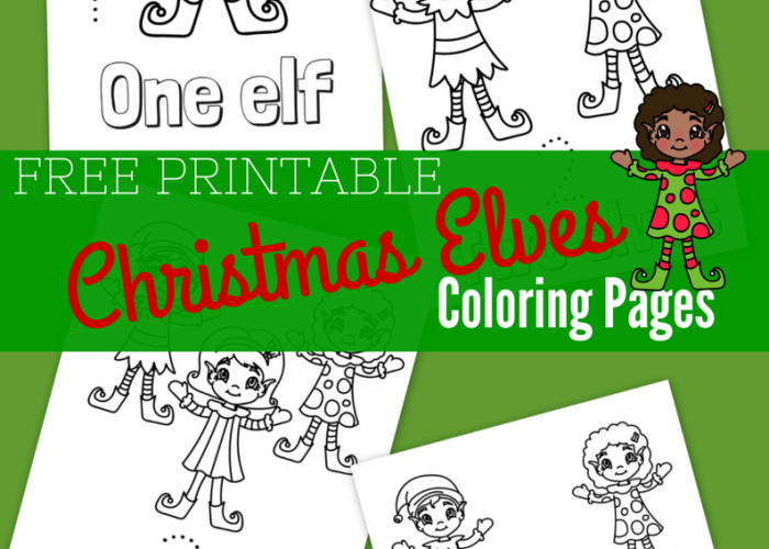 Cute boy and girl elves | Printable christmas coloring pages ... | 500x700
