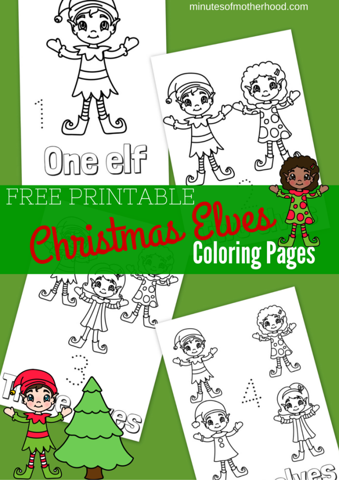Free Printable Christmas Elves Coloring Pages – Miniature Masterminds