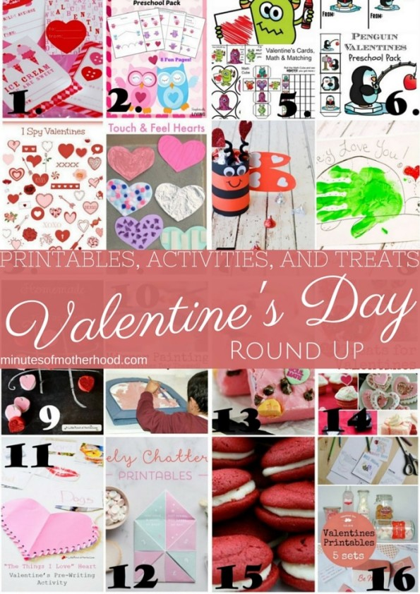 16 Valentine's Day Printables and Activities Round Up