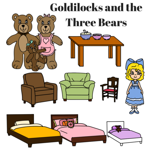 Sly image pertaining to goldilocks and the three bears story printable
