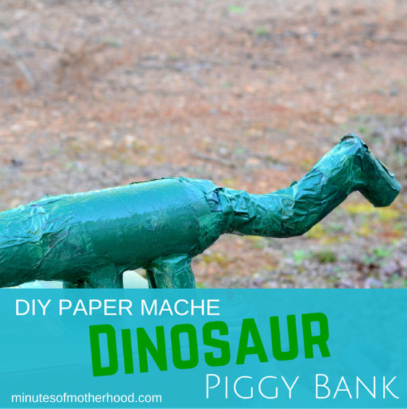 Dinosaur Paper Mache Piggy Bank DIY (1)