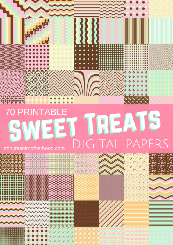 Sweet Treats - 70 Free Printable Digital Scrap Booking Papers