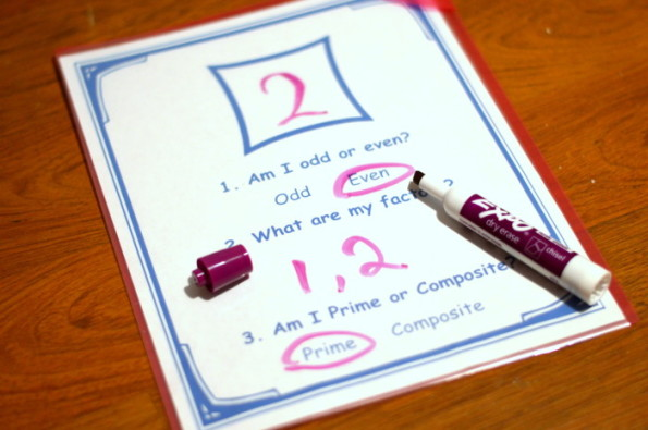 Working With Prime and Composite Numbers Practice Activity