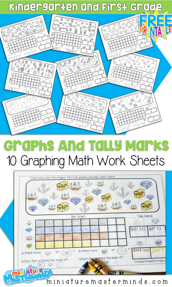 10 Free Printable Graphing Worksheets For Kindergarten And First Grade –  Miniature Masterminds