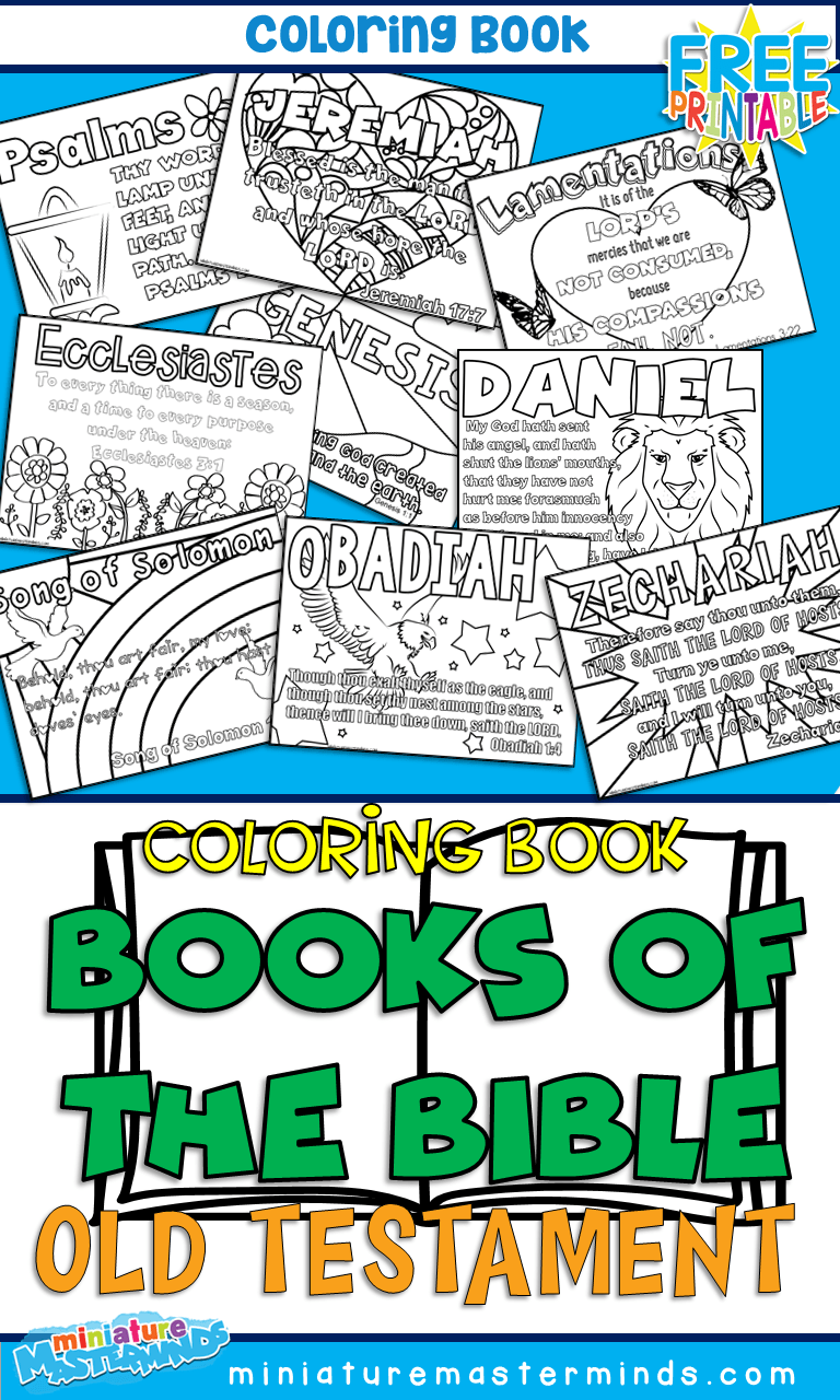 Books Of The Old Testament Coloring Pages – Miniature Masterminds