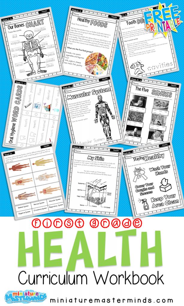 First Grade Curriculum Health Workbook Free Printable – Miniature  Masterminds