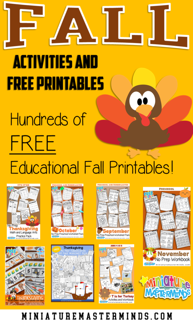 Fall Activities And Printables – Miniature Masterminds