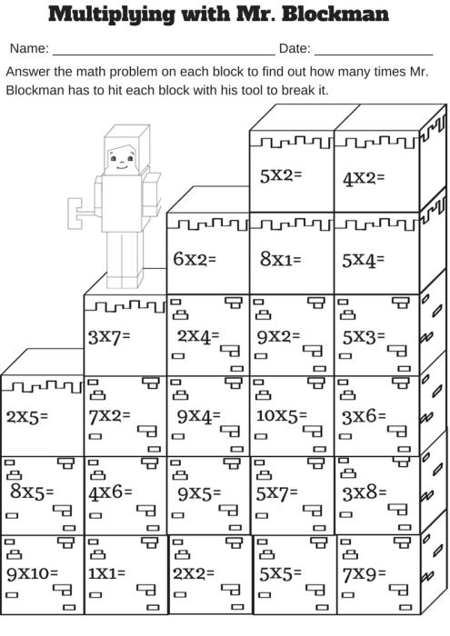 Multiplying with Mr. Blockman… Free Single Digit ...