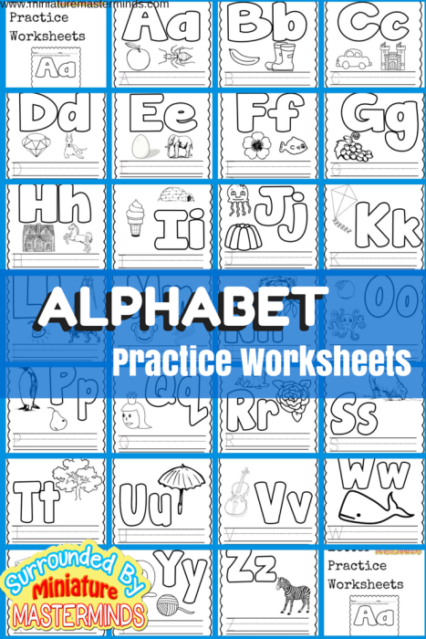 Basic Concept Alphabet Practice Worksheets Free Printables ...